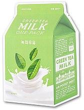 Düfte, Parfümerie und Kosmetik Gesichtsmaske mit Grüntee-Extrakt - A'pieu Green Tea Milk One-Pack