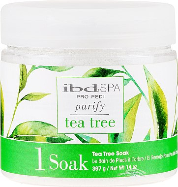 Fußbadesalz mit Teebaumextrakt - IBD Tea Tree Purify Pedi Spa Soak