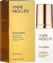 Düfte, Parfümerie und Kosmetik Nährendes Anti-Falten Gesichtsserum - Anne Moller Goldage Nourishment Serum-in-Oil