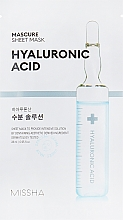 Düfte, Parfümerie und Kosmetik Feuchtigkeitsspendende Tuchmaske mit Hyaluronsäure - Missha Mascure Hydra Solution Sheet Mask