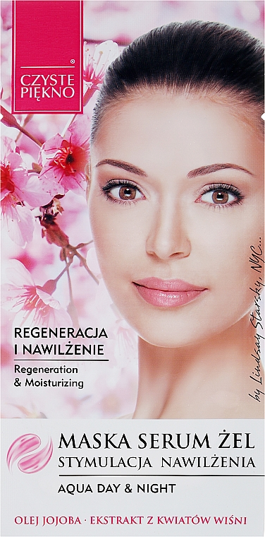 Regenerierendes und feuchtigkeitsspendendes Maske-Serum mit Kirschblütenextrakt - Czyste Piekno Face Mask Serum Gel
