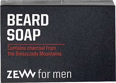 Natürliche Bartseife mit Aktivkohle - Zew For Men Natural Beard Soap