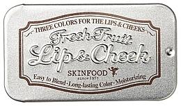 Düfte, Parfümerie und Kosmetik 2in1 Lippenbalsam und Creme-Rouge - Skinfood Fresh Fruit Lip & Cheek Trio