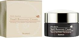 Düfte, Parfümerie und Kosmetik Aufhellende und feuchtigkeitsspendende Anti-Falten Gesichtscreme mit Schneckenmucin - Deoproce Snail Recovery Cream