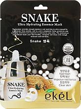 Düfte, Parfümerie und Kosmetik Feuchtigkeitsspendende Tuchmaske mit Schlangengift-Extrakt - Ekel Snake Ultra Hydrating Essence Mask
