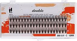 Düfte, Parfümerie und Kosmetik Wimpernbüschel-Set C 12 mm - Ibra 20 Flares Eyelash Knot Free Naturals