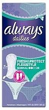 Düfte, Parfümerie und Kosmetik Slipeinlagen 28 St. - Always Dailies Fresh & Protect Flexistyle Normal