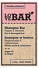 Düfte, Parfümerie und Kosmetik Festes Shampoo für trockenes und strapaziertes Haar mit Arganöl und Ingwer - Love Bar Repair & Nourish Shampoo Bar