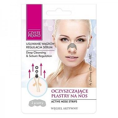 Nasenporenstreifen gegen Mitesser mit Aktivkohle - Czyste Piekno Nose Pack