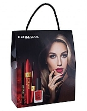 Düfte, Parfümerie und Kosmetik Make-up Set (Mascara 9ml + Eyeliner 3g + Nagellack 11ml) - Dermacol Obsession