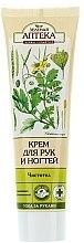 Düfte, Parfümerie und Kosmetik Feuchtigkeitsspendende Hand- und Nagelcreme mit Keratin, Panthenol und Schöllkraut - Green Pharmacy