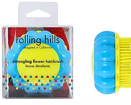 Düfte, Parfümerie und Kosmetik Kompakte Haarbürste Kamille gelb-blau - Rolling Hills Brosse Desenredar Flower