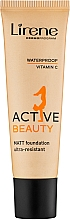 Düfte, Parfümerie und Kosmetik Wasserfeste Foundation - Lirene Active Beauty Matt Foundation Ultra-Resistant
