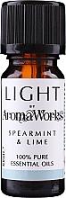 Düfte, Parfümerie und Kosmetik Ätherisches Öl Minze und Limette - AromaWorks Light Range Spearmint and Lime Essential Oil