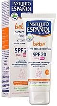 Düfte, Parfümerie und Kosmetik Schützende Gesichtscreme für Babys und Kinder SPF 20 - Instituto Espanol Babe Protective Facial Cream SPF20