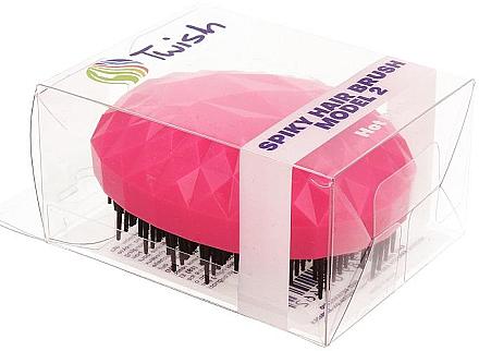Entwirrbürste rosa - Twish Spiky 2 Hair Brush Hot Pink