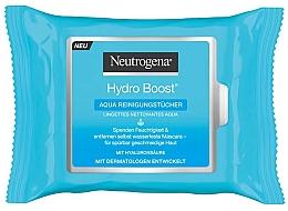 Düfte, Parfümerie und Kosmetik Reinigende Feuchttücher zum Abschminken mit Hyaluronsäure - Neutrogena Hydro Boost