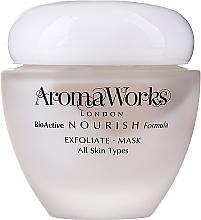 Düfte, Parfümerie und Kosmetik Peelingmaske für das Gesicht mit Bambuspulver, Gardenienextrakt, Neroli und Sandelholz - AromaWorks Nourish Face Exfoliate Mask