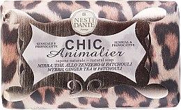 Düfte, Parfümerie und Kosmetik Seife mit exotischem Patchouli, Myrrhe und Ingwer Tee Duft - Nesti Dante Chic Animalier Soap