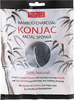 Gesichtsreinigungsschwamm mit Bambuskohle - Beauty Formulas Konjac Bamboo Charcoal Facial Sponge