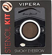 Düfte, Parfümerie und Kosmetik Augenbrauenset - Vipera Stencil Kit Smoky Eyebrow