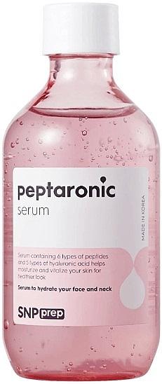 Feuchtigkeitsspendendes, regenerierendes Gesichtsserum mit Peptiden und Hyaluronsäure für alle Hauttypen - SNP Prep Peptaronic Serum