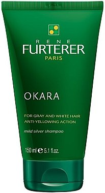 Anti-Gelbstich Shampoo für graues, weißes oder platinblondes Haar - Rene Furterer Okara Mild Silver Shampoo  — Bild N1