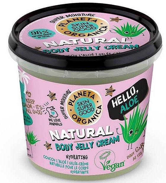 Körpercreme-Gelee mit Kokosnuss und Aloe Vera - Planeta Organica Natural Body Jelly Cream Hello Aloe