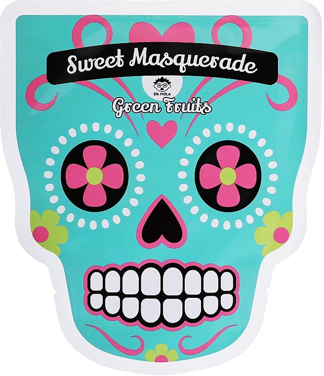 Nährende und reinigende Tuchmaske für das Gesicht mit Zitronen- und Guavenextrakt - Dr Mola Sweet Masquarade Green Fruits mask