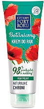 Düfte, Parfümerie und Kosmetik Handschutzcreme mit Mohnfeld - Cztery Pory Roku Botanical Protective Hand Cream