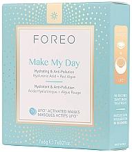 Düfte, Parfümerie und Kosmetik UFO-aktivierende feuchtigkeitsspendende und schützende Gesichtsmaske mit Hyaluronsäure und roten Algen - Foreo Ufo Make My Day Mask