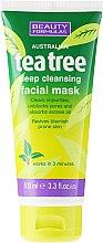 Düfte, Parfümerie und Kosmetik Reinigende Gesichtsmaske mit Teebaum - Beauty Formulas Tea Tree Deep Cleansing Facial Mask