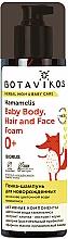 Düfte, Parfümerie und Kosmetik Schäumendes Shampoo für Neugerorene mit Hamamelisblütenwasser  - Botavikos Baby Body, Hair And Face Foam