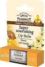 Düfte, Parfümerie und Kosmetik Nahrhafter Lippenbalsam mit Honig und Vanille SPF 10 - Green Pharmacy Lip Balm With Honey And Vanilla