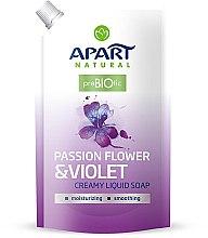 "Düfte, Parfümerie und Kosmetik Flüssige Cremeseife ""Passion Flower & Violet "" - Apart Natural Passion Flower & Violet Soap (Doypack)"
