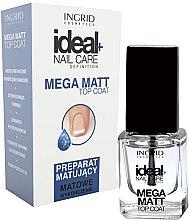 Düfte, Parfümerie und Kosmetik Top Nagellack mit Matt-Effekt - Ingrid Cosmetics Ideal+ Nail Care Definition Mega Matt Top Coat