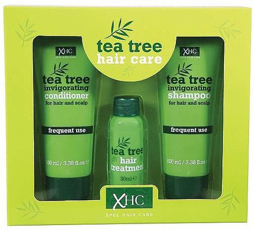 Haarpflegeset - Xpel Marketing Ltd Tea Tree Invigorating (Shampoo 100 ml + Conditioner 100 ml + Haarserum 30 ml)