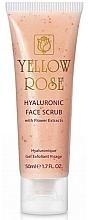 Düfte, Parfümerie und Kosmetik Peeling z kwasem hialuronowym i ekstraktami z kwiatów - Yellow Rose Hyaluronic Face Scrub