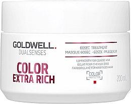 Düfte, Parfümerie und Kosmetik Intensive Maske für gefärbtes Haar - Goldwell DualSenses Color Extra Rich 60sec Treatment