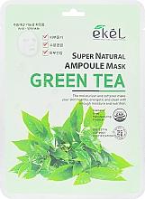 Düfte, Parfümerie und Kosmetik Feuchtigkeitsspendende Tuchmaske für das Gesicht mit Grüntee-Extrakt - Ekel Super Natural Ampoule Green Tea