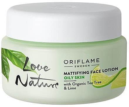 Mattierende Gesichtslotion mit Teebaum und Limette - Oriflame Love Nature Mattifyng Face Lotion
