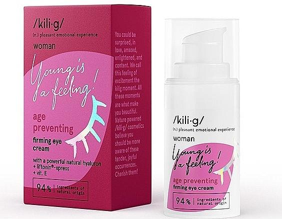 Straffende Augencreme für reife Haut mit Hyaluronsäure und Vitamin E - Kili·g Woman Age Preventing Eye Cream