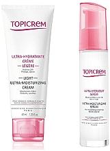 Düfte, Parfümerie und Kosmetik Gesichtspflegeset - Topicrem Skin Care Gift Set (Gesichtscreme 40ml + Gesichtsserum 7ml)