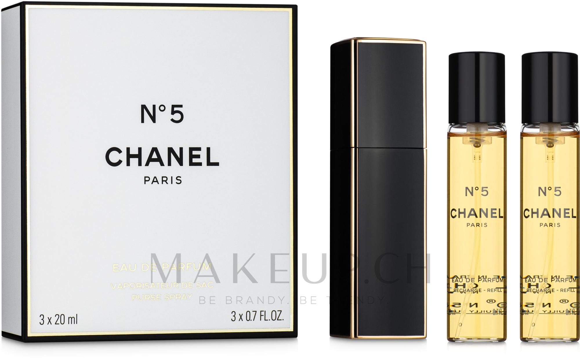 Chanel N5 Purse Spray - Eau de Parfum (2x20ml Refill + Parfümzerstäuber) — Bild 3x20 ml
