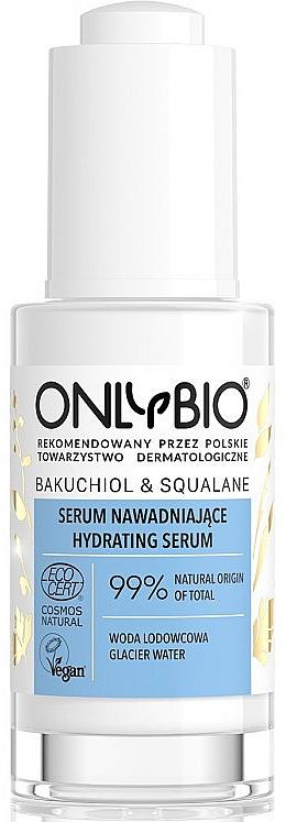 Feuchtigkeitsspendendes Gesichtsserum mit Gletscherwasser, Squalan und Bakuchiol - Only Bio Bakuchiol&Squalane Hydrating Serum
