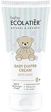 Düfte, Parfümerie und Kosmetik Windelcreme mit Kamillenextrakt, Sheabutter und Zinkoxid - Ecolatier Baby Diaper Cream With Zinc