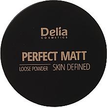 Düfte, Parfümerie und Kosmetik Mattierender loser Gesichtspuder - Delia Perfect Matt Loose Powder Skin Defined