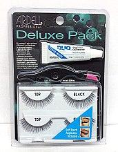 Düfte, Parfümerie und Kosmetik Set Künstliche Wimpern und Wimpernkleber - Ardell Deluxe Pack 109 Black