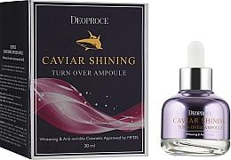 Düfte, Parfümerie und Kosmetik Aufhellendes Anti-Falten Gesichtsserum mit Kaviarextrakt - Deoproce Caviar Shining Turn Over Ampoule