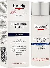 Düfte, Parfümerie und Kosmetik Intensive faltenmindernde Tagescreme für trockene Haut mit 5% Urea und Hyaluronsäure - Eucerin Hyaluron-filler Cream